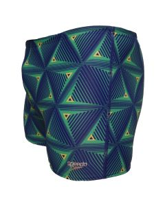 speedo badehose aquashort dreieck grün-blau