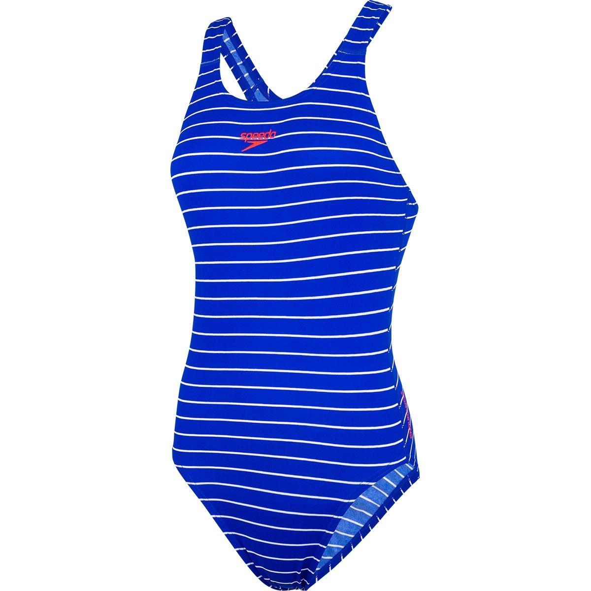 speedo schwimmanzug endurance+ medalist blau streifen