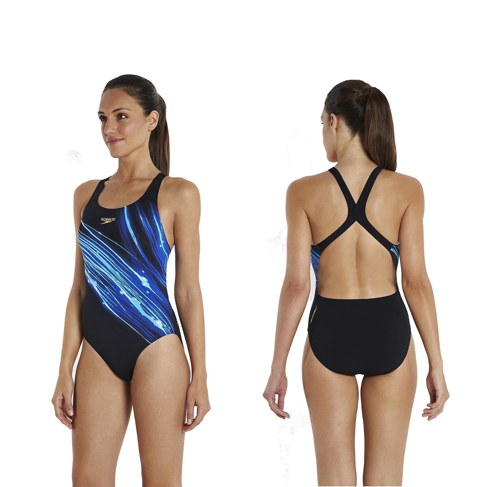 speedo schwimmanzug damen powerback fastdive