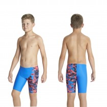 speedo badehose kinder jammer blau orange