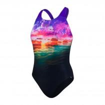 speedo schwimmanzug damen powerback sunbloom