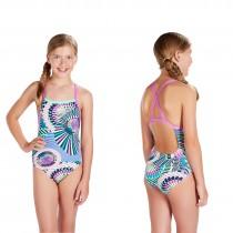Speedo Badeanzug Schwimmanzug Mädchen Xback