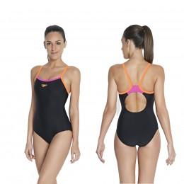 speedo schwimmanzug endurance10 muscleback schwarz
