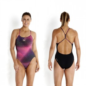 Speedo Badeanzug Damen rippleback digital