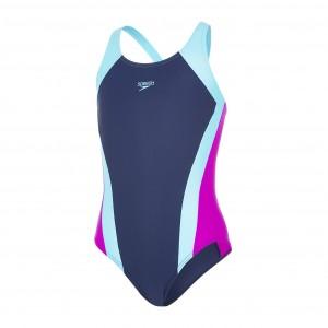 blauer speedo badeanzug mädchen günstig